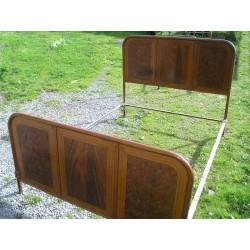 Lit en fer marron 140 x 190 cm-Vintage