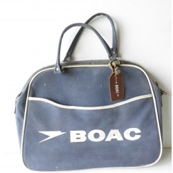 Ancien sac authentique BOAC, vintage, aviation