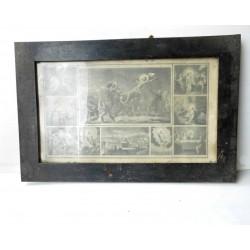 2 Tableaux religieux anciens début XXè 55x36cm une vitre cassée