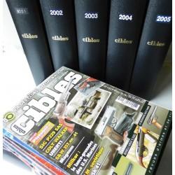 6 Coffrets magazines CIBLES, années 2001 à 2006, complets état neuf