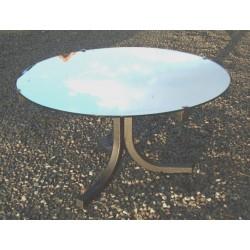 Table basse ancienne années 60 , plateau miroir- vintage