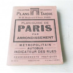 Paris- Plan guide des arrondissements Taride