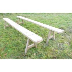 2 bancs de ferme en bois-2.70m