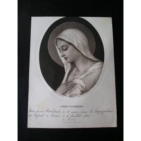 Document religieux : Congrégation des Enfants de Marie 1937