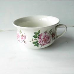 Pot de chambre petite taille, motifs fleurs,