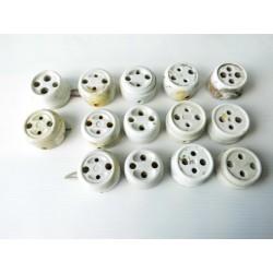 Prises porcelaine, matériel électrique ancien