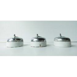 3 Interrupteurs anciens porcelaine et  alu 57mm