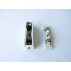 Fusible ancien, matériel électrique en porcelaine D