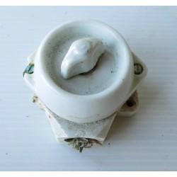 Interrupteur en porcelaine,matériel électrique ancien