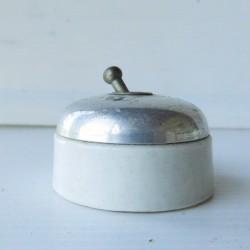 Interrupteur ancien alu et porcelaine 55mm