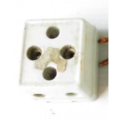 Prises carrées en porcelaine-mat. électrique ancien (2)