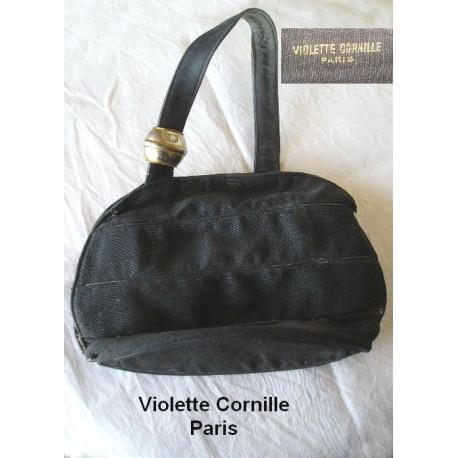 Sac à main ancien Violette Cornille , années 40-50