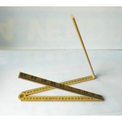 Mètre pliant, angle droit en cm et inches
