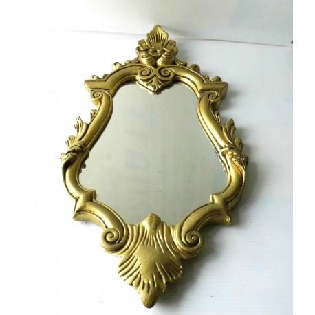 Miroir ancien en bois doré art déco