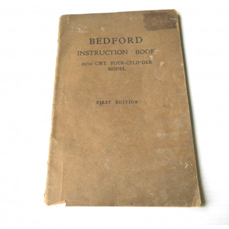 BEDFORD INSTRUCTION BOOK 1939  Vauxhall motors limited First edition