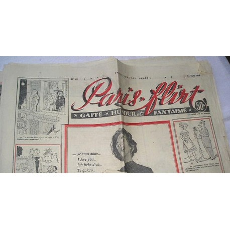 Journal ancien Paris Flirt de 1958