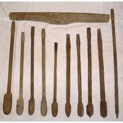LOT de 10 Gouges ou cuillers,  outils anciens à bois