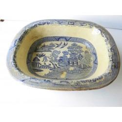 Plat ancien 1900, motifs asiatiques