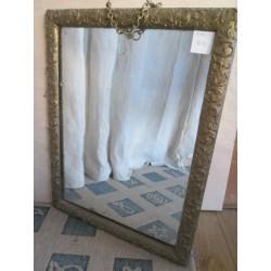 Miroir  bois et plâtre doré