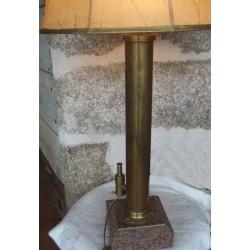 Lampadaire monté sur tube laiton ou cuivre sur pieds- marbre 1.10m