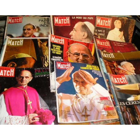 LOT de 9 Paris Match sur les Papes années 60
