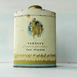 Boite publicitaire de talc powder YARDLEY