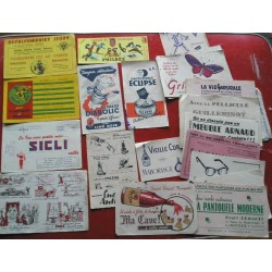 LOT de 22 buvards anciens, divers