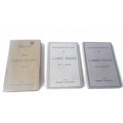 3 livres anciens armée romaine 1884, armée grecque