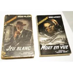 FLEUVE NOIR - Espionnage - lot de 2 livres