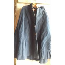 Cape/manteau authentique en drap de laine, avec capuche, de facteur début XXème, Poste et télécommunications i