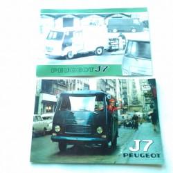 J7 Peugeot , 2catalogues