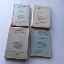 4 livres scolaires Librairie GIBERT-zoologie  botanique  1947/Moyen Age...