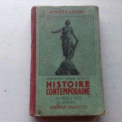 Livre scolaire HISTOIRE 1937 Malet & Isaac