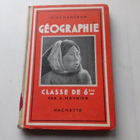 Livre scolaire géographie DEMANGEON classe de 6è