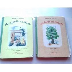 Livres scolaires lecture Mon jardin / Ma foret en liberté