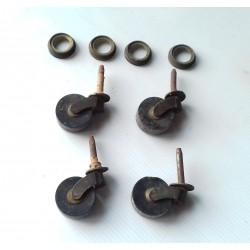 Roulettes anciennes, de meuble