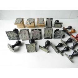 Lot de tampons médicaux, corps humain années 40-50