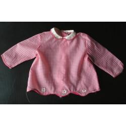 Blouse ancienne pour enfant, nylon, brodée, années 50