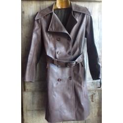 Veste longue, manteau cuir