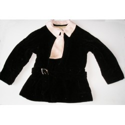 Robe ancienne fillette, années 40/50, velours noir