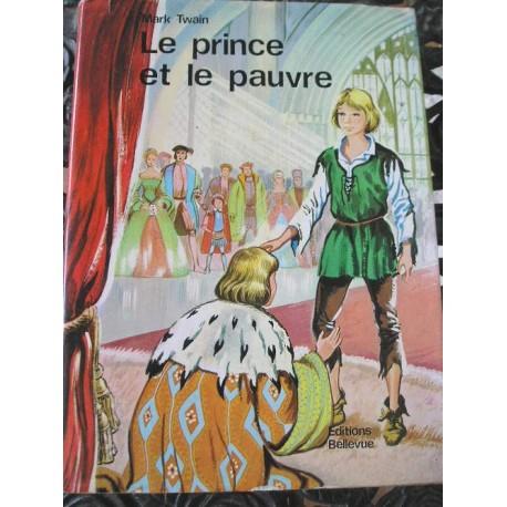 Livre ancien contes pour enfants Le prince et le pauvre