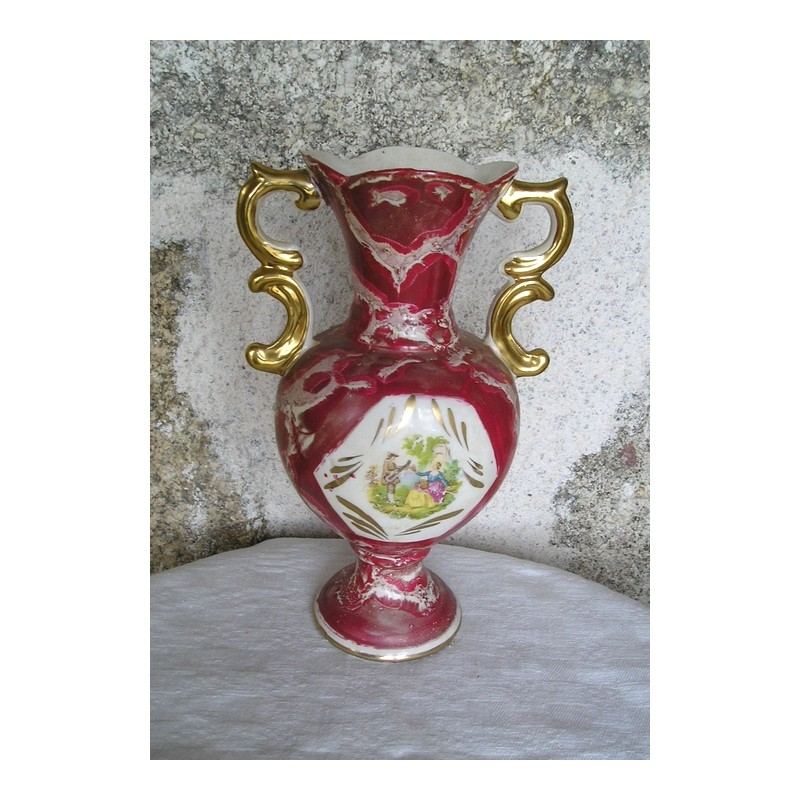vase rouge ancien italien galdo tadino broc23. Black Bedroom Furniture Sets. Home Design Ideas