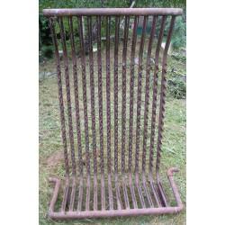 Récupérateur de chaleur en acier 130 cm largeur 90 cm