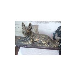 Statue de chien en platre 60 cm