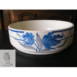Cuvette de toilette GIEN bleue, années 1900