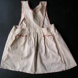 Robe tablier fillette années 50, 4-5ans