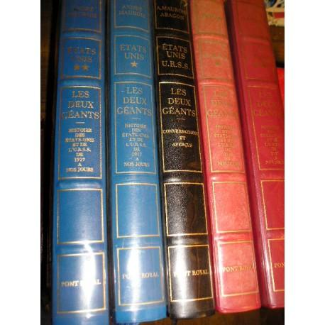 Encyclopédie: Les 2 géants URSS et les Etats Unis , 5 vol.de Maurois