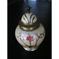 Pot en laiton peint 17 cm