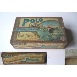 Boite en fer ancienne,  Félix Potin Paris Polo