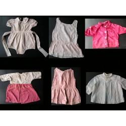 Lot de 6 vêtements enfants années 50-robes